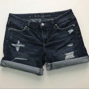 WHBM Girlfriend Jean Shorts. Size 4